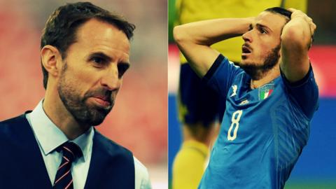 Southgate and an Italy player