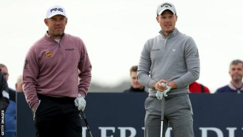 Lee Westwood (left) and Danny Willett