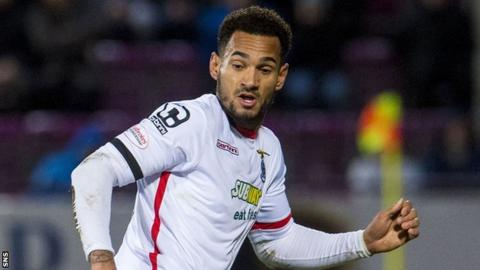 Jordan Roberts in action for Inverness CT