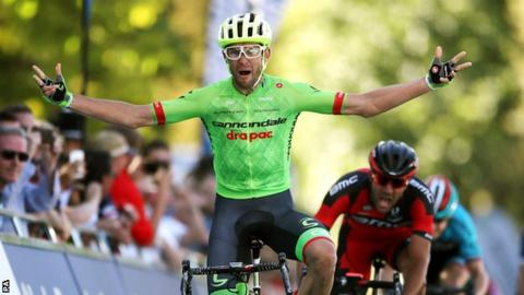 Jack Bauer wins stage five of the Tour of Britain