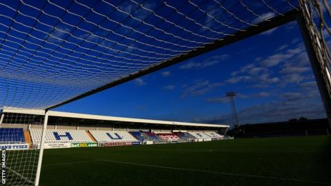 A general view of Hartlepool United's home ground