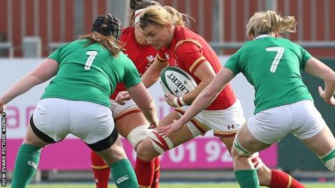 Rachel Taylor in action against Ireland