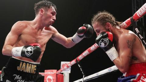 Jamie Conlan lands a punch during his victory over David Koos last month