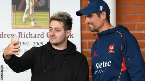 Fan with Alastair Cook