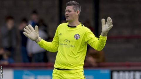Brechin City goalkeeper Graeme Smith