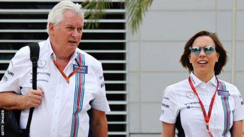 Pat Symonds and Claire Williams
