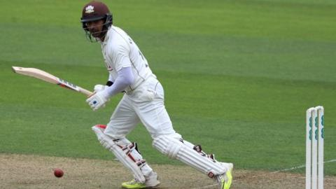Kumar Sangakkara's 48 took him past 1,000 County Championship runs for the season for the first time