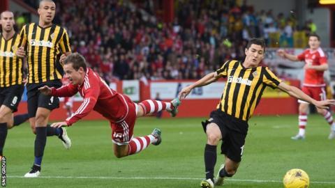 Aberdeen lost 3-2 on aggregate to Kairat Almaty in last season's third qualifying round
