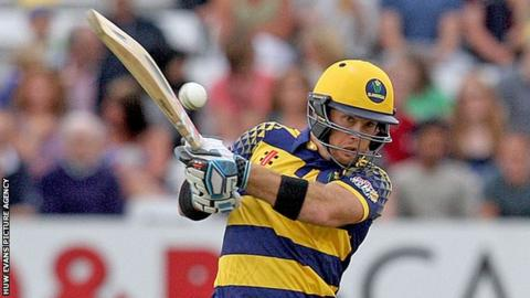 Colin Ingram hits out during an innings for Glamorgan