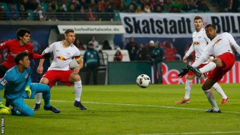 Red Bull Leipzig beat Eintracht Frankfurt