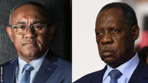2017 Caf presidential candidates Ahmad and Issa Hayatou
