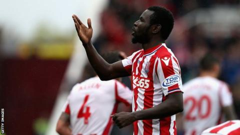 Stoke City and Senegal's Mame Biram Diouf