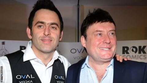 Ronnie O'Sullivan and Jimmy White (right)