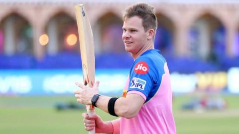 Australia batsman Steve Smith in training for Rajasthan Royals