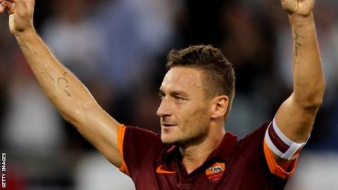 Roma captain and striker Francesco Totto