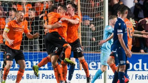 Dundee United hammered neighbours Dundee 6-2 at Tannadice in August