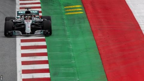 Lewis Hamilton in action at the Red Bull Ring