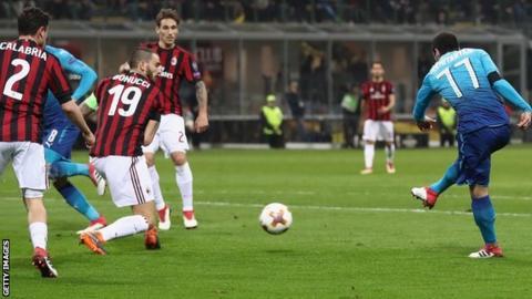 Henrikh Mkhitaryan fires Arsenal ahead
