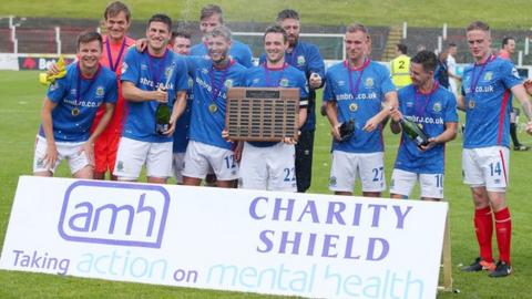 Linfield won the Action Mental Health Charity Shield in August 2017