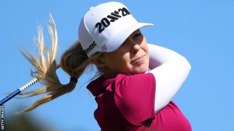 Stephanie Meadow in action at the Lotte Championship in Hawaii last month