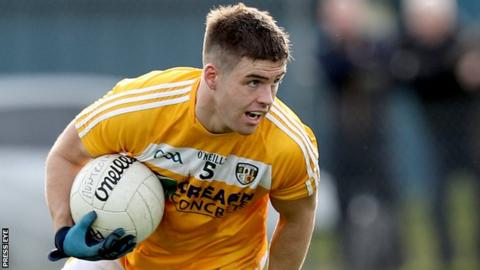 Paddy McBride hit six points in Antrim's opening Division Four win over Leitrim