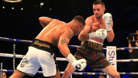 Taylor unified the WBA and IBF titles with an epic victory over Regis Prograis