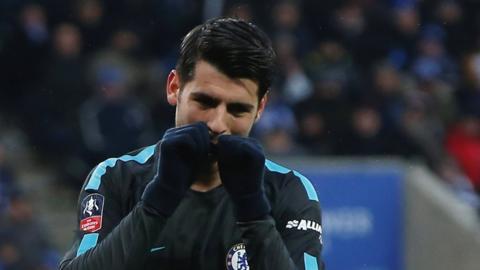 Chelsea's Morata celebrates scoring