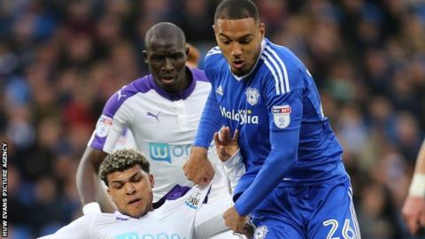 Kenneth Zohore in action against Newcastle United