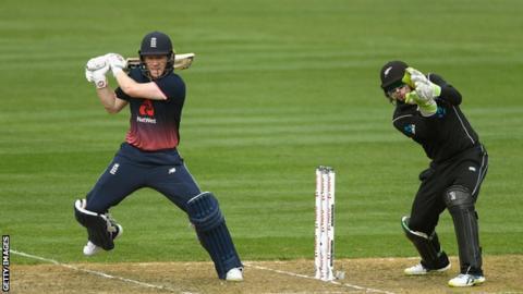 England ODI captain Eoin Moran plays a shot against New Zealand