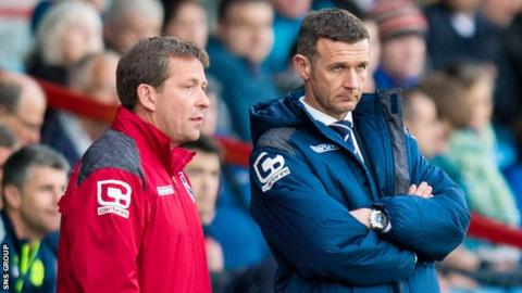 Billy Dodds (left) and Jim McIntyre worked together at Ross County
