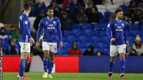 Cardiff players dejected