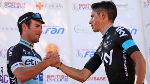 Mark Cavendish and Peter Kennaugh
