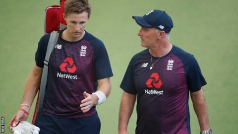 Joe Root (left) and England batting coach Graham Thorpe prepare for the start of the Ashes on Thursday