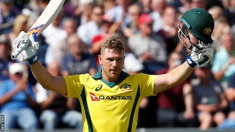 Aaron Finch hits new T20I record score in Australia Tri-Series win