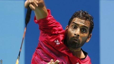 Rajiv Ouseph hits a shot at the European Championships