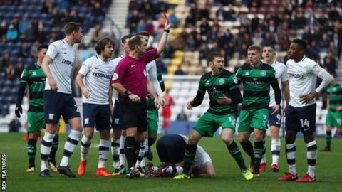 Jamie Mackie sending off
