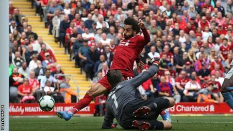 Mohamed Salah scores for Liverpool