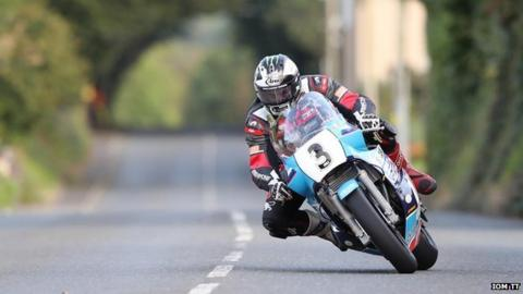 Michael Dunlop competing in the Classic TT