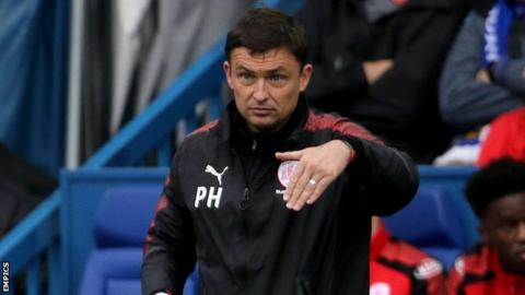Former Barnsley boss Paul Heckingbottom issuing instructions from the sidelines at Sheffield Wednesday