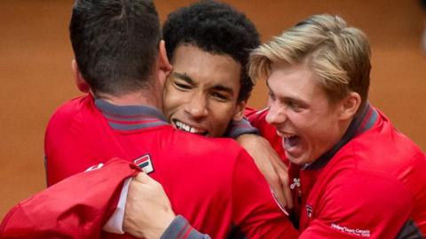 Canadian teenagers Felix Auger-Aliassime and Denis Shapovalov will play Queen's this summer