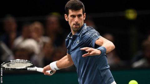 Djokovic beats Federer to advance to Paris Masters final