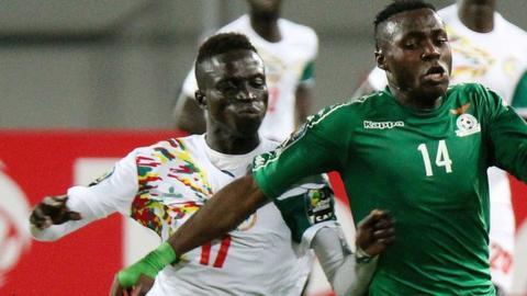 Senegalese midfielder Krepin Diatta (on left)