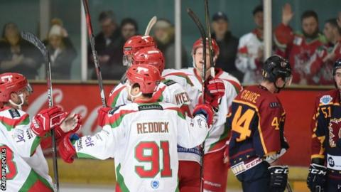 Cardiff Devils will have home advantage in the return leg with Guildford Flames on 10 January