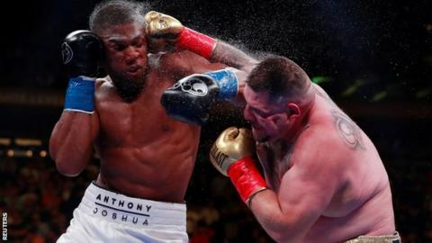 Ruiz knocked Joshua down four times on his way to a seventh-round stoppage on 1 June