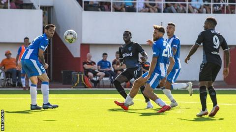 Loan signing Sheyi Ojo curled in Rangers' second