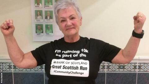 Maureen Murray prepares for the Great Scottish Run