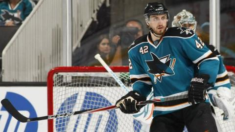 Matt Pelech played for NHL sides the Calgary Flames and the San Jose Sharks
