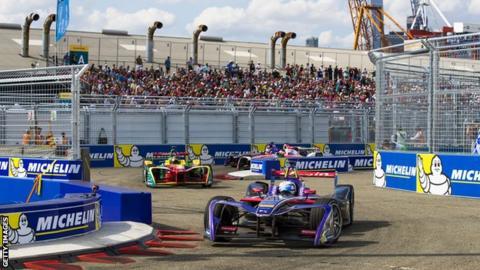 A Formula E race in New York