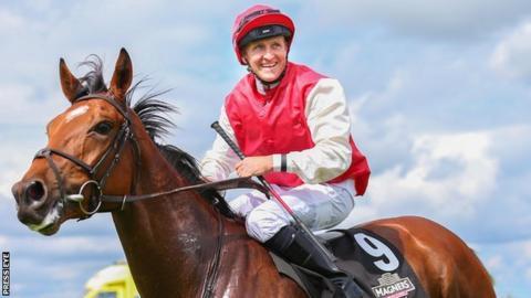 Jockey Niall McCullagh on board Botany Bay