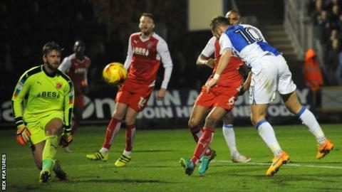 Matty Taylor headed Bristol Rovers' 61st-minute equaliser at the Memorial Stadium